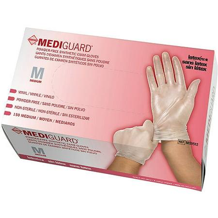 Medline Powder Free Synthetic Vinyl Exam Gloves  Medium  Case Of 1500