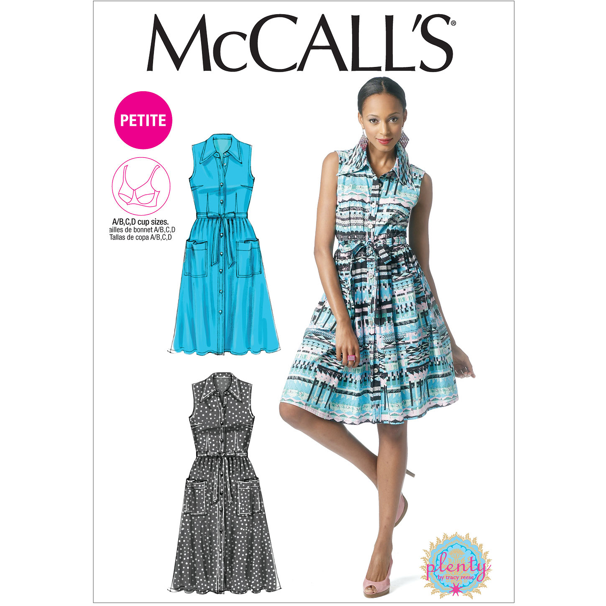 McCall's Pattern Misses' and Miss Petite Dress, B5 (8, 10, 12, 14, 16)
