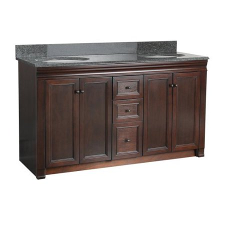 Foremost Shawna 60-in. Double Bathroom Vanity - Tobacco