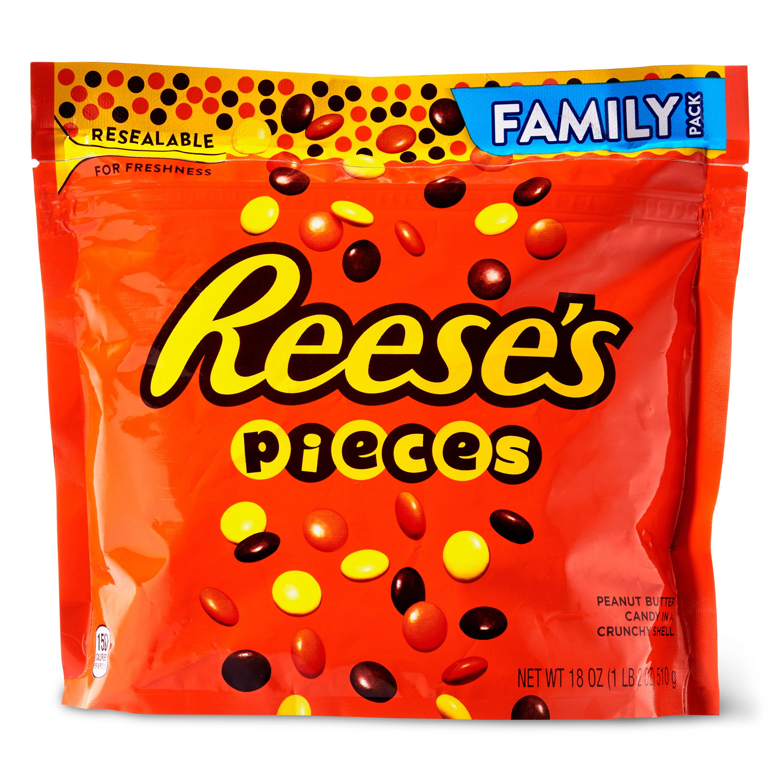 Reese's Pieces Resealable Bag, 18 Oz. - Walmart.com ...