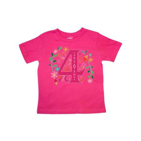 4th Birthday Girls Party Photo Number 4 Toddler T Shirt