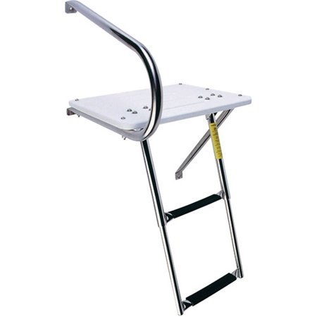 - Garelick EEz-In Transom Platform with 2-Step Telescoping Ladder for Boats with Outboard Motors