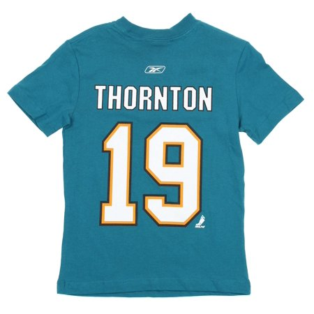 Reebok NHL Hockey Youth Boys San Jose Sharks Joe Thornton #19 Player T-Shirt Authentic Reebok Nhl Hockey Jersey