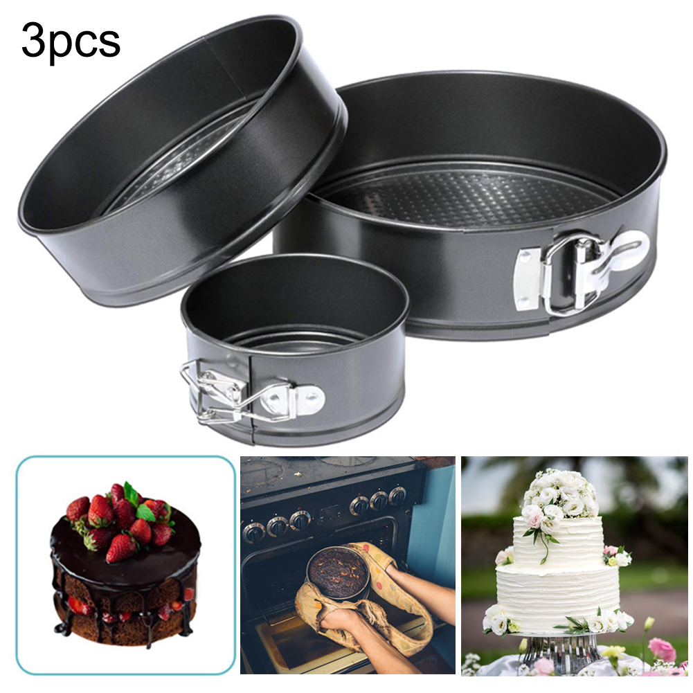 9 Inch Non-Stick Spring Form Cake Pan Leakproof Round Bread Mold Baking Tray