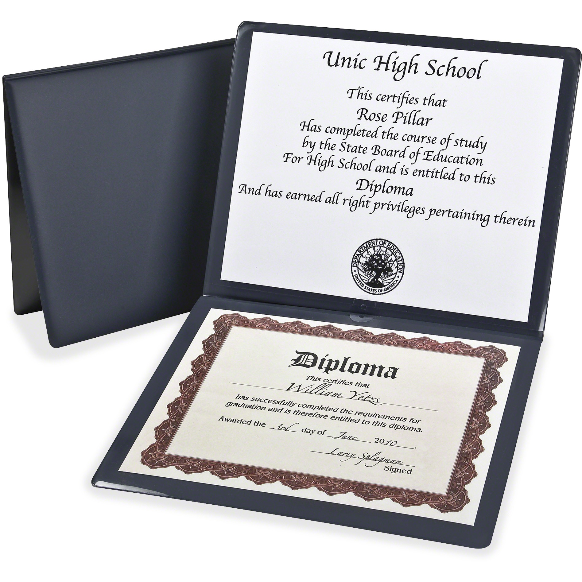 "TOPS, OXF44212, Oxford 12""x1"" Diploma Holder, 1 / Each, Navy"