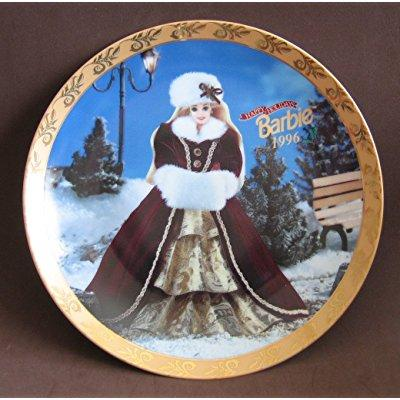 barbie happy holidays 1996 collector plate - limited edit...