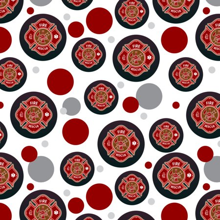 Firefighter Fire Rescue Maltese Cross Premium Gift Wrap Wrapping Paper -