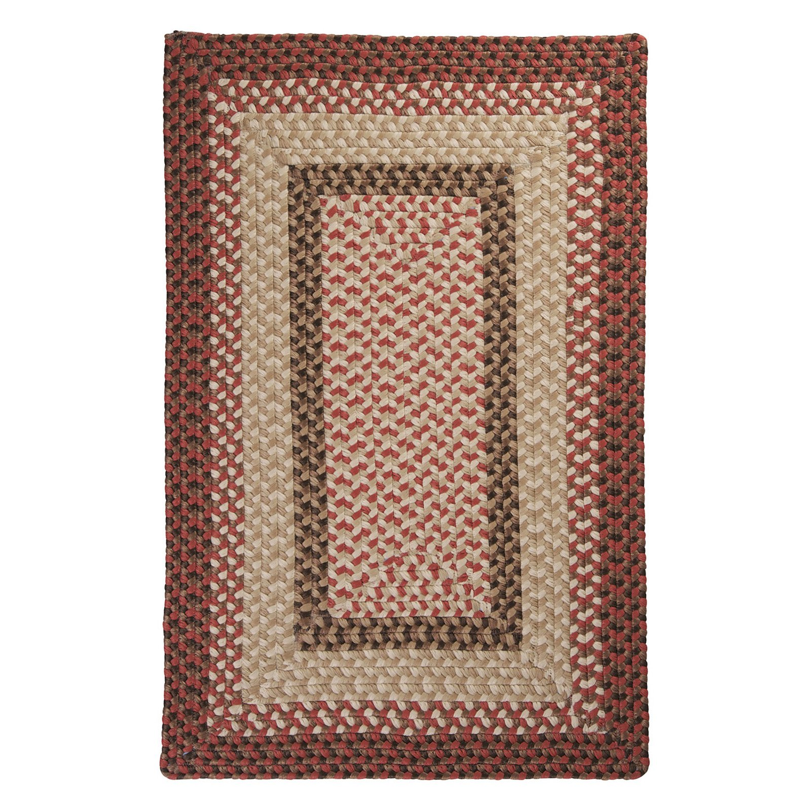 Colonial Mills TB79R Tiburon Indoor/Outdoor Braided Rug - Rusted Rose - 36L x 24W x 0.5H in.