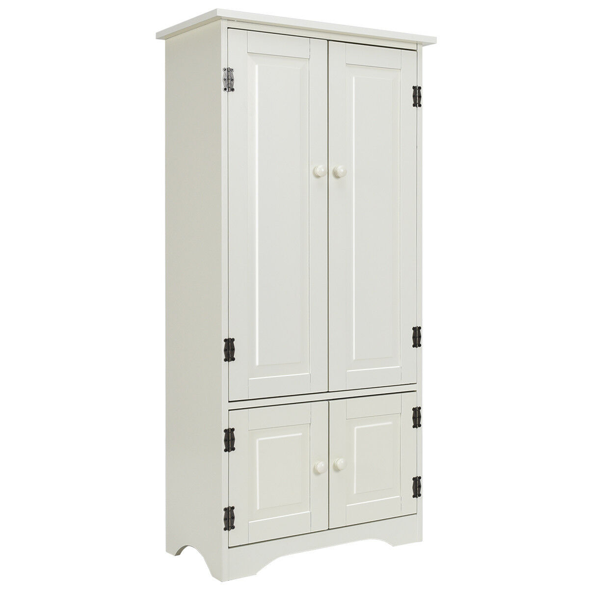 Costway Accent Storage Cabinet Adjustable Shelves Antique 2 Door