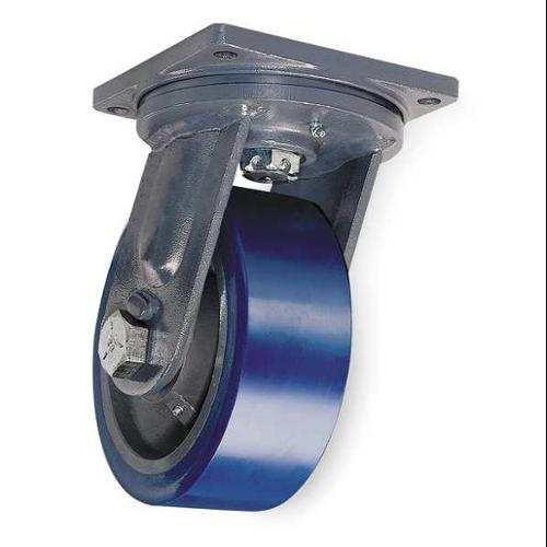 Hamilton Plate Caster,Swivel,Poly,8 in.,3500 lb., S-MD-83SYT-4SL