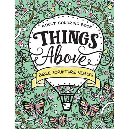 Things Above : Adult Coloring Book with Bible Scripture Verses - Hunting Bible Verses