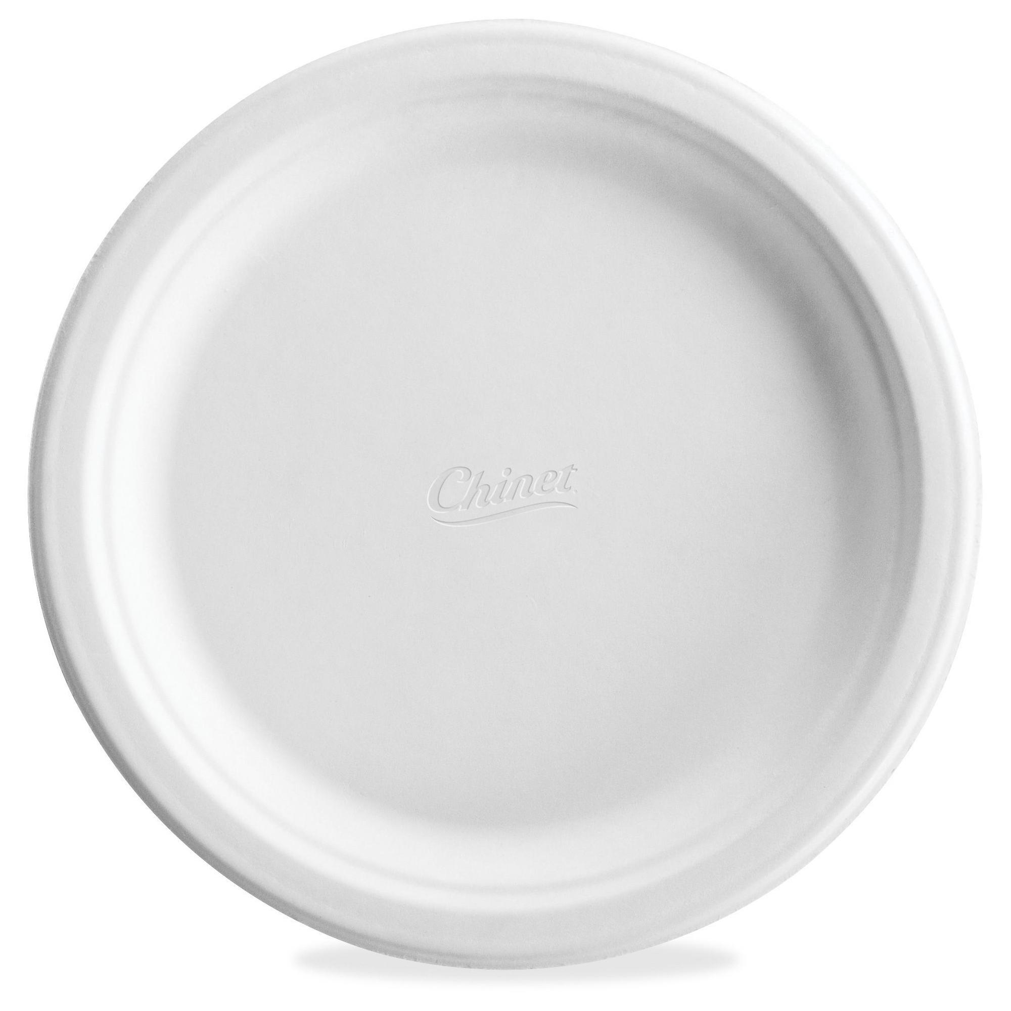 Chinet Classic White Molded Plates 6 Diameter Dinner Plate