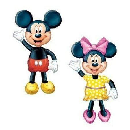 MICKEY & MINNIE Air WALKER AIRWALKER Huge Birthday Party Mylar Helium Balloons by - Mickey And Minnie Birthday Party