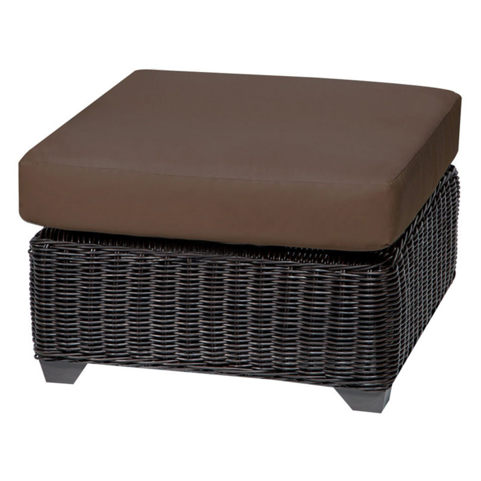 TK Classics Venice Wicker Outdoor Ottoman - Set of 2 Cushion Covers