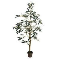 Vickerman TB180548 4' Potted Olive Tree 408 Lvs