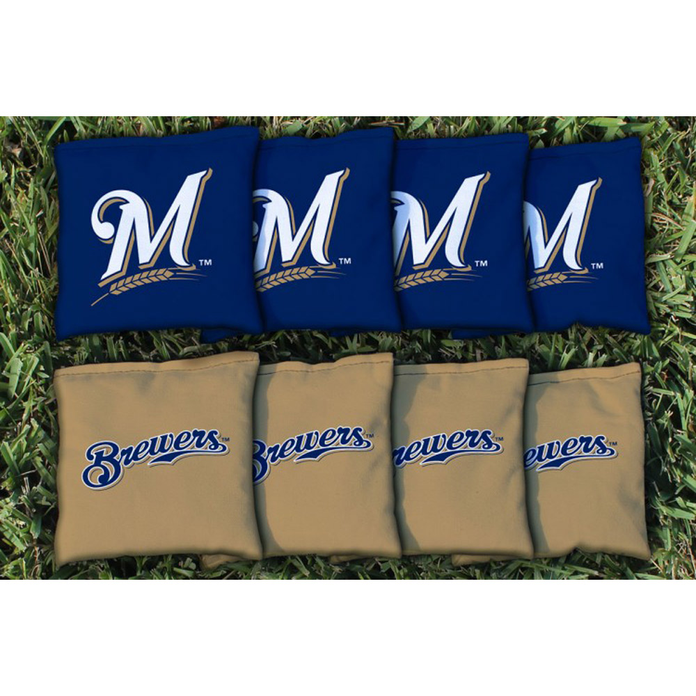 Milwaukee Brewers All-Weather Cornhole Bag Set - No Size