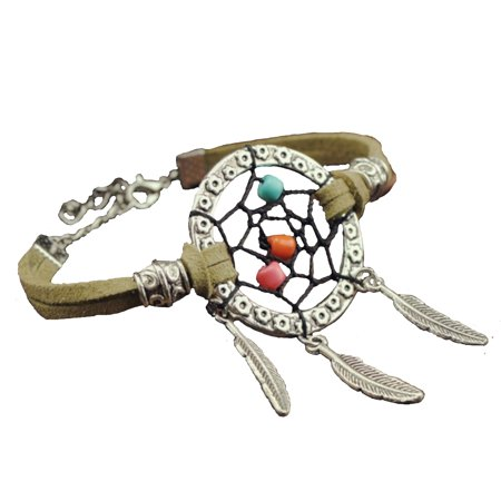 232 Leather - Hand Made Leather Dream Catcher Bracelet Jewelry Decoration Accessory J-232