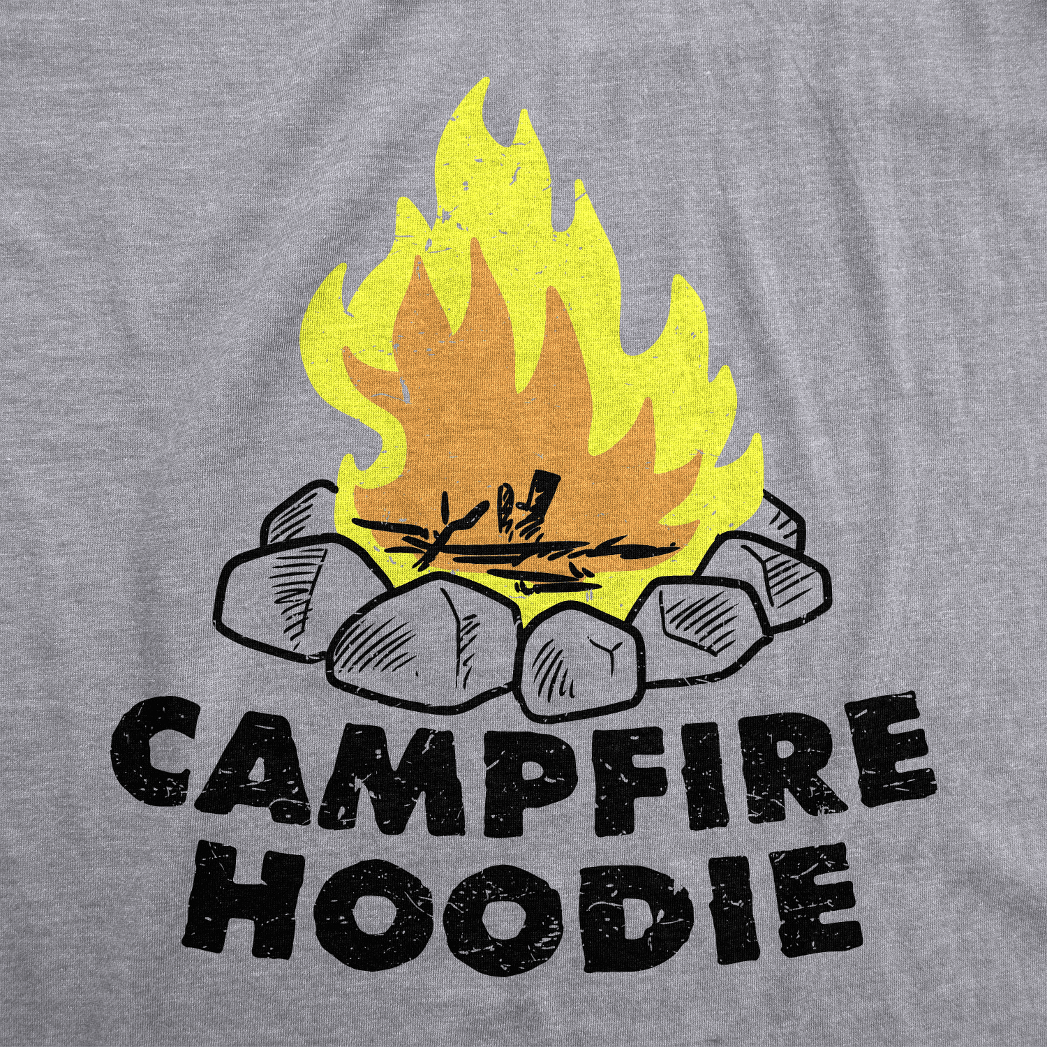 Comical Shirt Mens Campfire and Chill Hoodie
