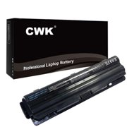 CWK® 7800mAh 9 Cell New High Capacity Battery for Dell XPS 15 L501X L502X XPS 17 L701X L702X Dell XPS L401x L501x L502x L701x L702x 312-1127 J70W7 JWPHF R795X DELL 08PGNG 0J70W7 0JWPHF 0R4CN5