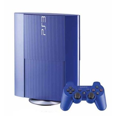 Refurbished Sony PlayStation 3 PS3 500GB Console Blue