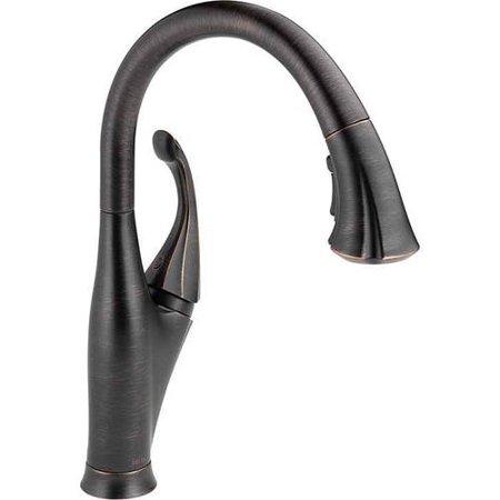 Delta Addison Single Handle Pull-Down Kitchen Faucet with ShieldSpray Technology, Venetian Bronze