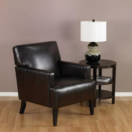 Avenue Six Carrington Arm Chair  Espresso  Eco Leather