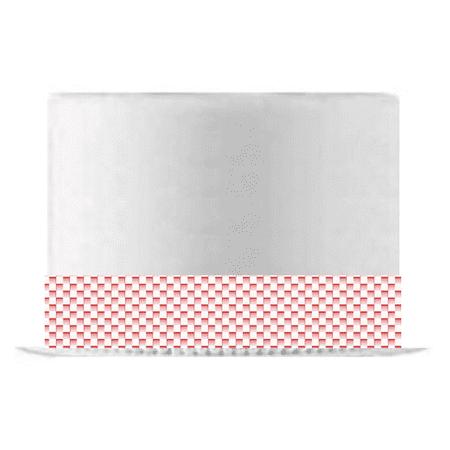 Gradient Red Basket Weave Edible Cake Decoration Ribbon -6 Slim -