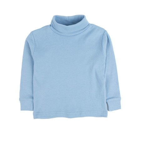 Leveret Solid Turtleneck 100% Cotton (2 Toddler, Light Blue)