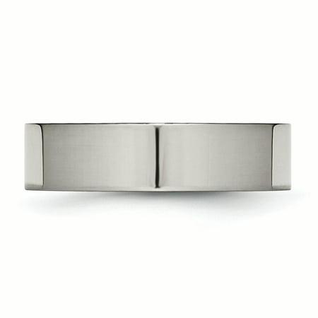 Titanium Flat 6mm Polished Band Ring 11 Size - image 4 de 6