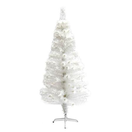 ALEKO Fiber Optic Artificial Christmas Tree with ...