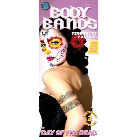 Gypsy Skull Temporary Tattoos