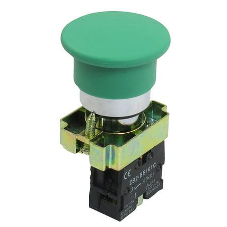 22mm NO Verde Champignon Momentanée Bouton interrupteur 600V 10A ZB2-BC31 - image 1 de 1