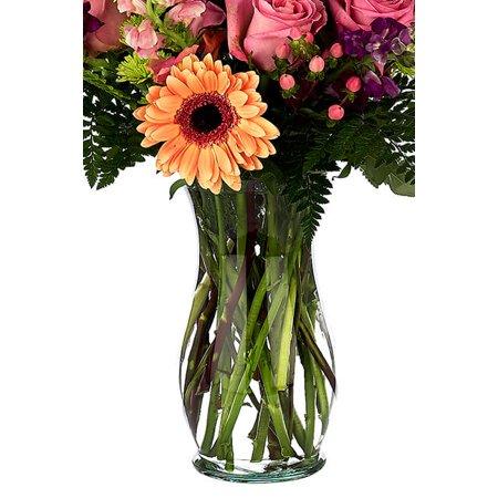 Florist Clear Glass Vases 10 Inch Gala Urn Vase Walmart