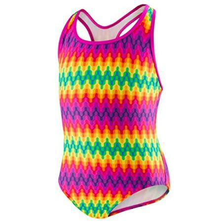 - Speedo® Girls 1-piece Swimsuit - Genie Geo (10, Multi)
