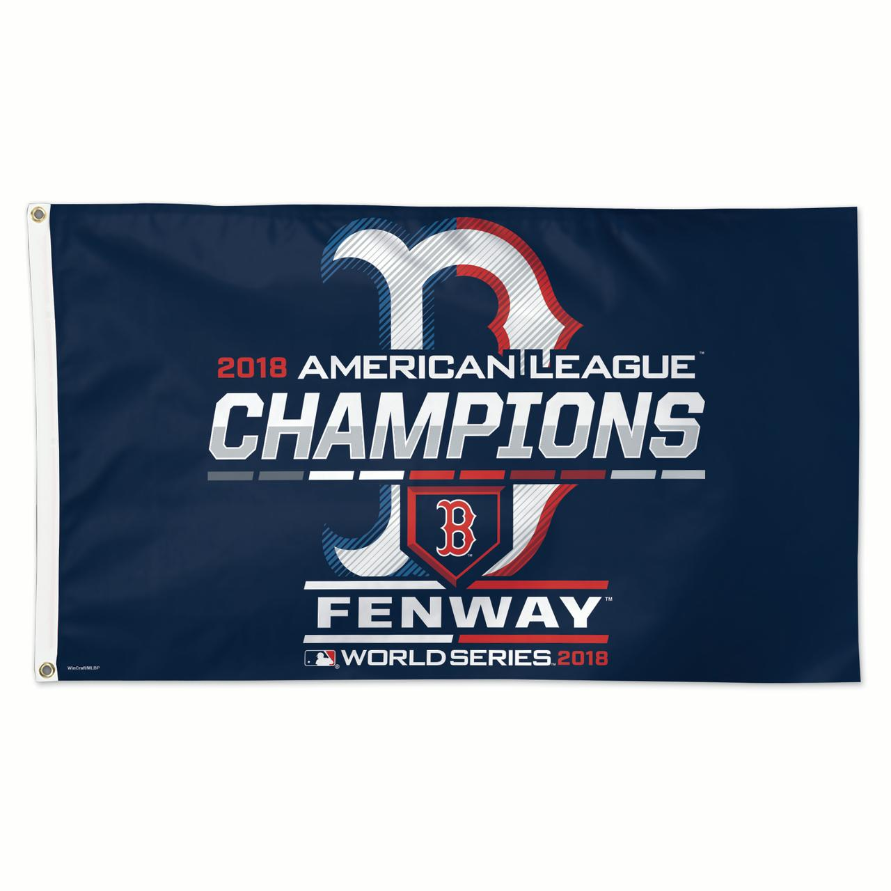 Boston Red Sox WinCraft 2018 American League Champions On-Field Celebration 1-Sided 3' x 5' Deluxe Flag - No Size