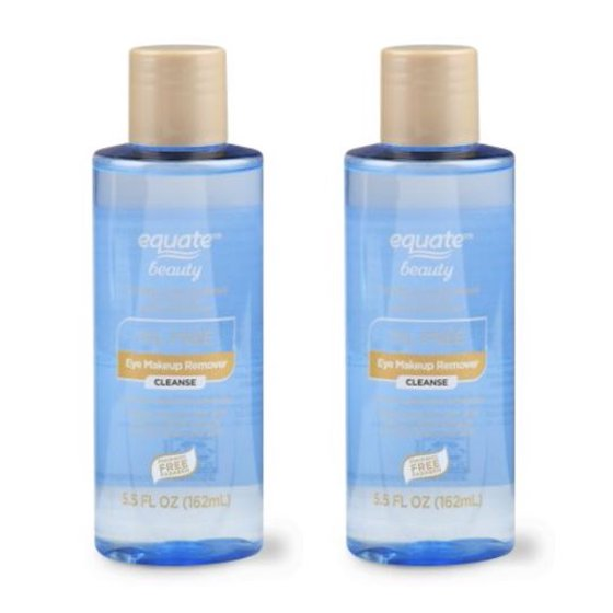 2 Pack Equate Beauty Oil Free Eye Makeup Remover 55 Oz Walmart