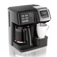 Hamilton Beach 2-Way FlexBrew Coffee Maker (49954), Single Serve & Full 12 Cup Coffee Pot, Compatible with Single-Serve Pods or Ground Coffee, Programmable