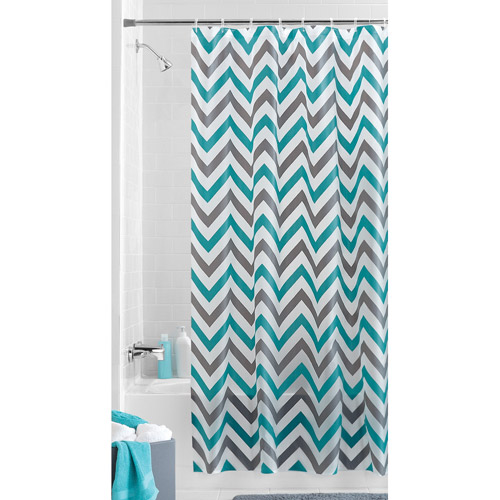 Mainstays Alpha Chevron PEVA Shower Curtain
