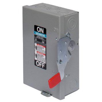 - SIEMENS GF322N 60A 240V 3-Pole 4-Wire Fusible General Duty Safety Switch, NEMA-1