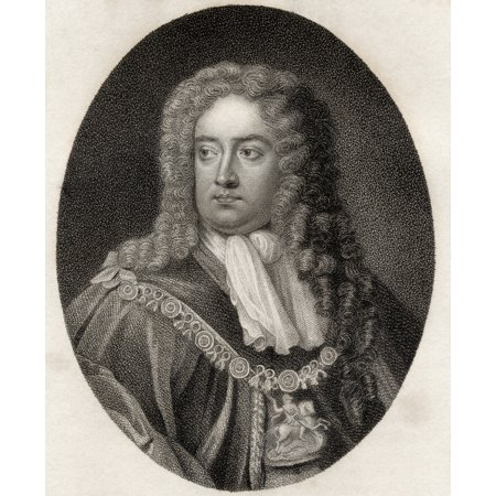 Charles Sackville 6Th Earl Of Dorset 1643  1706 English Poet And Courtier From The Book A Catalogue Of Royal And Noble Authors Volume Iv Published 1806 Posterprint