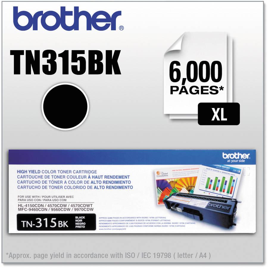 Brother TN315BK (TN-315BK) High-Yield Black Toner Cartridge