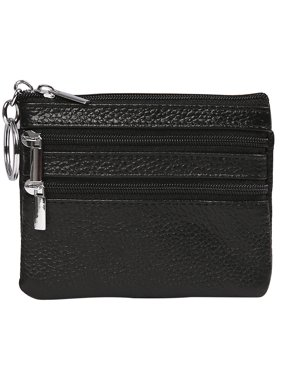 1a2769458d23 Product Image HDE Womens Leather Small Coin Purse Zipper Change Wallet Mini  Pouch w/Key Ring (