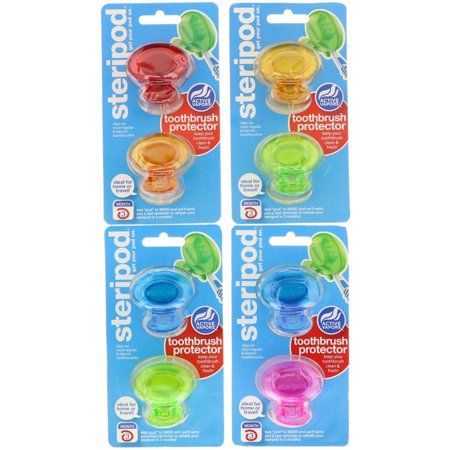 Steripod Clip-On Toothbrush Protector (Set of 8
