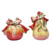 Elegant Victorian Harvest Apples and Pears Salt and Pepper Shakers