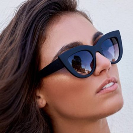 Retro Sunglasses for Women Goggles Mirror Protection Cat Eye Sun Glasses](Glasses With Eyes On Them)