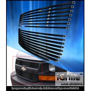 Fits 03-16 Chevy Express Explorer Conversion Van Stainless Black Billet Grille