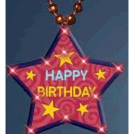 Huge Happy Birthday Star Beaded Necklace Flashing Body Light Lapel (Huge Beads Necklace)