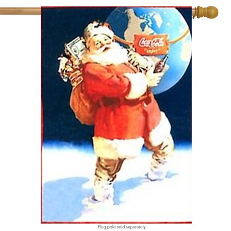 coca cola santa christmas house flag holiday yard banner 25