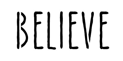 "Believe Skinny Handwritten Horizontal Word Stencil 9"" x 4.5""- STCL1201_3 by Studio R 12"