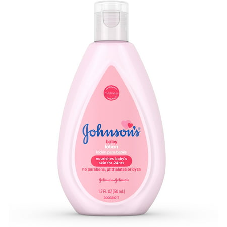 2 Pack - JOHNSON'S Moisturizing Baby Lotion With Coconut Oil, Hypoallergenic  1.7 (Best Coconut Oil Brand For Baby)